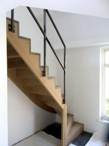 Eiken houten trap for Houten vaste trap