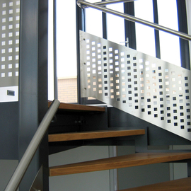 Balustrade met geperforeerde rvs plaat BAL48