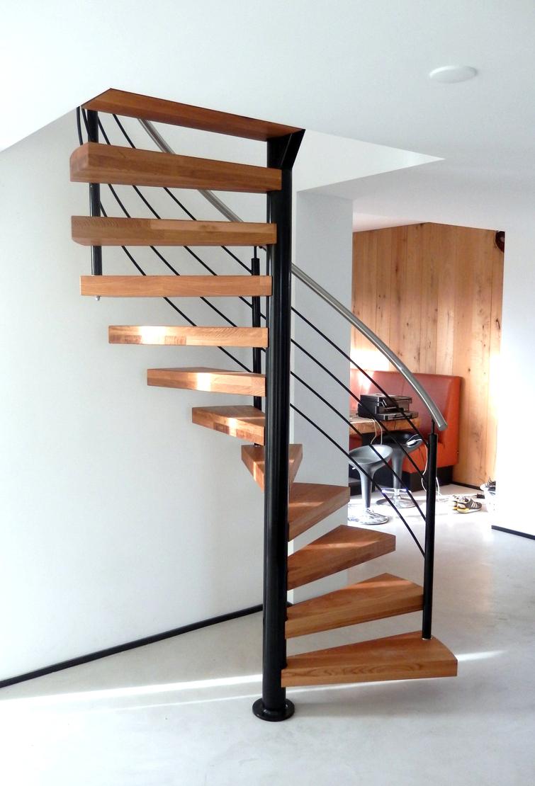 Design spiltrap met staal en hout swt69 for Spiltrap hout