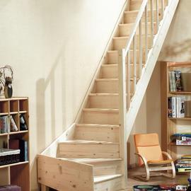 Zelfbouw trap - Beneden trap ...