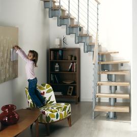 Zelfbouw trap - Moderne trap kwartslag ...