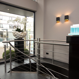 RVS balustrade in kapsalon BAL65