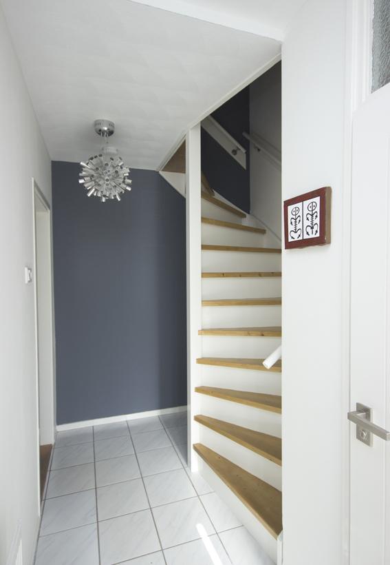 Moderne houten trap st65 - Moderne buitentrap ...